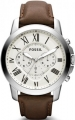 Zegarek FOSSIL Grant Chronograph Brown Leather FS4735
