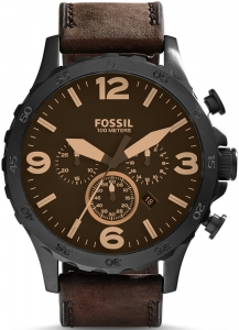 Zegarek FOSSIL Nate Chronograph Leather JR1487