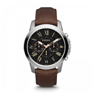 Zegarek FOSSIL Grant Chronograph Brown Leather  FS4813