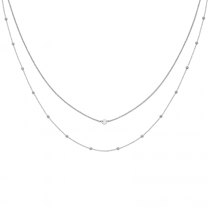 Naszyjnik Essentielle  Silver Set of Two Necklaces with Petite Hexagon CLJ22004