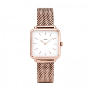Zegarek CLUSE La Tétragone Rose Gold White/Rose Gold CL60003