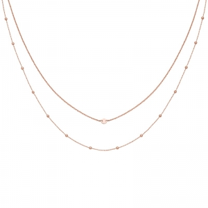 Naszyjnik Essentielle Rose Gold Set of Two Necklaces with Petite Hexagon CLJ20004