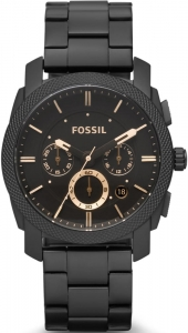 Zegarek FOSSIL Machine Mid-Size Chronograph Black Stainless Steel FS4682