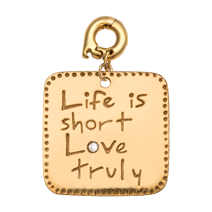 ZAWIESZKA CHARMS NIKKI LISSONI LIFE IS SHORT - LOVE TRULY