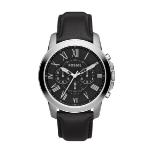 Zegarek FOSSIL Grant Chronograph Black Leather FS4812IE