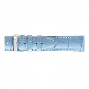 Pasek PIERO MAGLI Alligator Grain Pastel Blue/Silver