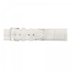 Pasek PIERO MAGLI Alligator Grain XXL White/Silver