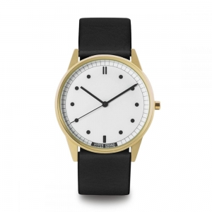 ZEGAREK HYPERGRAND 01NATO Gold White CLASSIC BLACK LEATHER