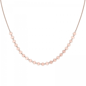 Naszyjnik Essentielle Rose Gold All Hexagons Choker  CLJ20003