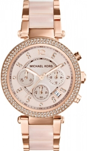 Zegarek MICHAEL KORS Parker Rose Gold-Tone Blush Acetate MK5896