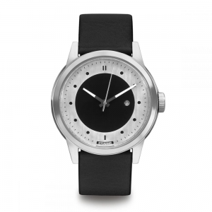 ZEGAREK HYPERGRAND  MAVERICK Silver Silver BLACK LEATHER