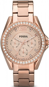 Zegarek FOSSIL Riley Multifunction Rose-Tone Stainless Steel ES2811