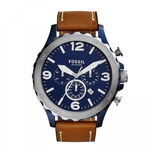 Zegarek FOSSIL Nate Chronograph Brown Leather JR1504