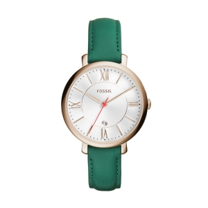 Zegarek FOSSIL Jacqueline Three-Hand Date Teal Leather  ES4149