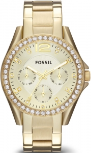 Zegarek FOSSIL Riley Multifunction Gold-Tone Stainless Steel ES3203
