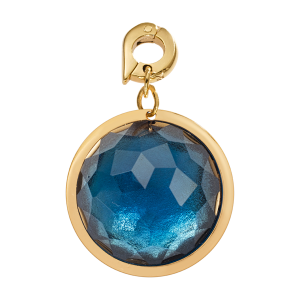 ZAWIESZKA CHARMS NIKKI LISSONI FACETED BLUE OPTICAL GLASS