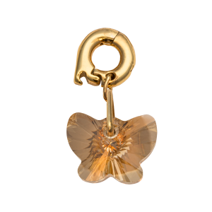 ZAWIESZKA CHARMS NIKKI LISSONI FREE AS A BUTTERFLY - GOLD