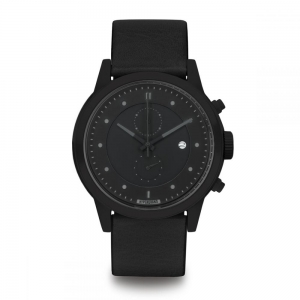 ZEGAREK HYPERGRAND MAVERICK Chrono Blackout CLASSIC BLACK LEATHER