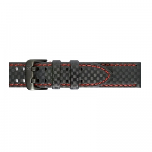 Pasek PIERO MAGLI Carbon Fiber Negro Red/Black