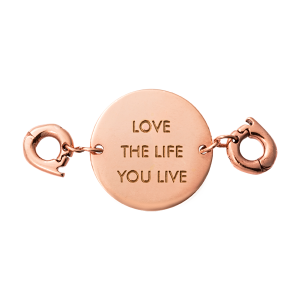 ZAWIESZKA CHARMS NIKKI LISSONI LOVE THE LIFE YOU LIVE