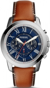 Zegarek FOSSIL Grant Chronograph Brown Leather FS5210