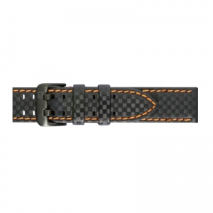 Pasek PIERO MAGLI Carbon Fiber Black-Orange/Black