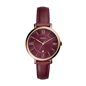 Zegarek FOSSIL Jacqueline Three-Hand Date Wine Leather  ES4099