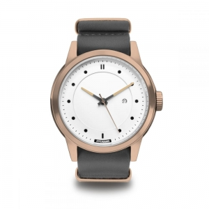 ZEGAREK HYPERGRAND MAVERICK Rose Gold White GREY LEATHER