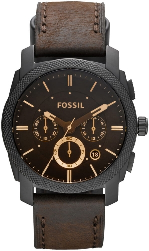 Zegarek FOSSIL Machine Mid-Size Chronograph Brown Leather FS4656